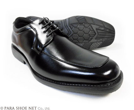 ARUKOKA(アルコーカ)Uチップ ビジネスシューズ 黒 ワイズ(足幅)幅広4E(EEEE)27.5cm、28cm(28.0cm)、29cm(29.0cm) 【大きいサイズ(ビッグサイズ)紳士靴・通気底 蒸れない靴】