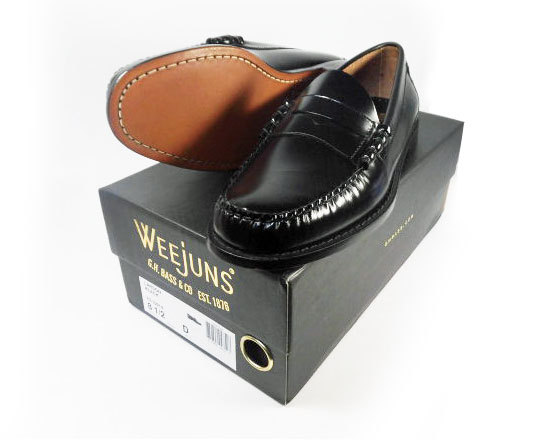 G.H. Bass&Co Weejuns LARSON BLACK 8.5D